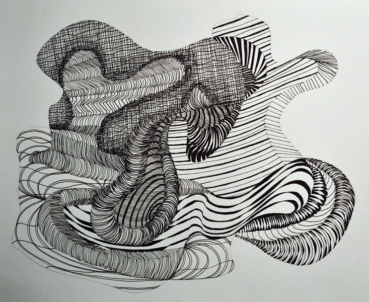 Abstract Line Art Paintings : Line drawings beka bielman